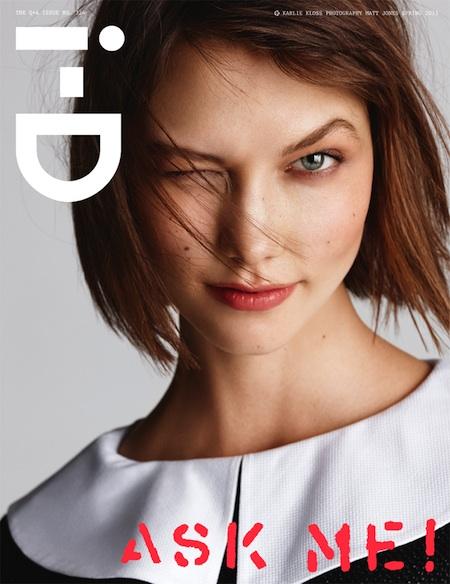 i-D Magazine Spring 2013 Cover Karlie Kloss