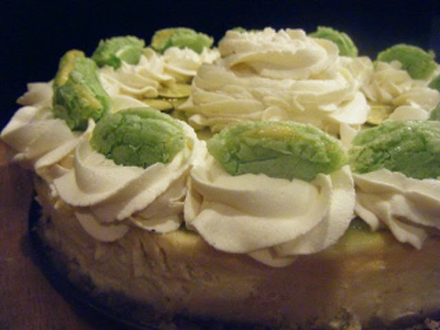 ... Key Lime Cheesecake with Mascarpone Whipped Cream and Key Lime