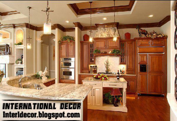 Medium image of classic wood kitchen cabinets designs luxury american kitchen design