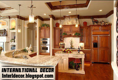 Interior Decor Idea: Classic wood kitchen cabinets designs, wood