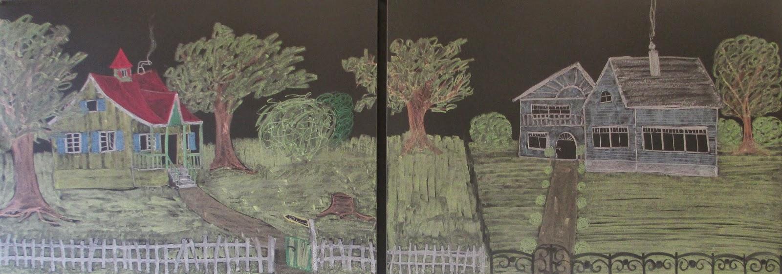 Bild auf Wandtafel im Kindergarten zum Thema Pippi Langstrumpf