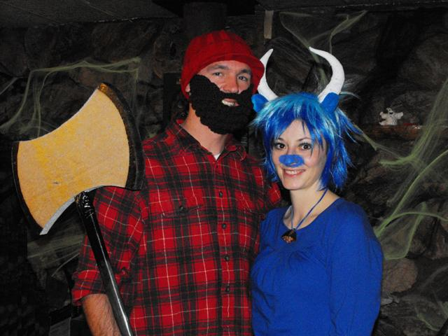 Yes I gave Jake a list of possible couple costume ideas and he chose this one - so I would have to be an ox! hahaha. But I must say I make one foxy ox!  sc 1 st  Blog & The best things in life are FREE: Carving Memories and Pumpkins!