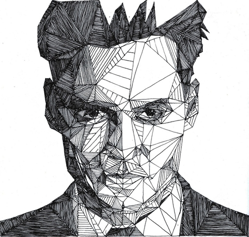 02-Johnny-Depp-Josh-Bryan-Monochromatic-Triangulation-Drawings-Portraits-www-designstack-co