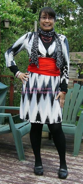 Pink Calico: Faux Wrap Dress