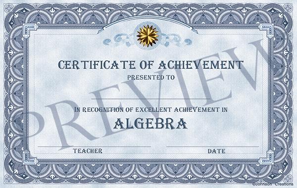 fancy certificates