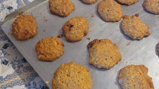 печенье из геркулеса и тыквы после выпечки