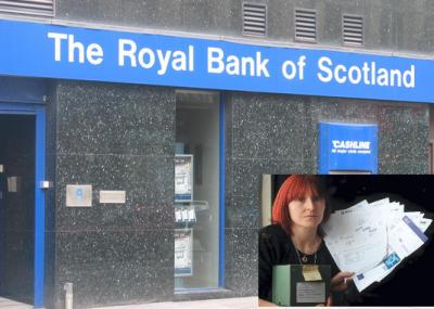 sucursal del Royal Bank Scotland y Peers Siobhon.