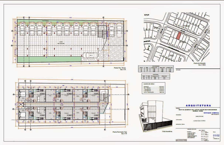 Projetos & Desenhos: Edifício Residencial de Kitnets #524784 1212 787