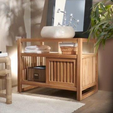 Meuble salle de bain en bois pas cher meuble d coration maison - Meuble bois exotique pas cher ...