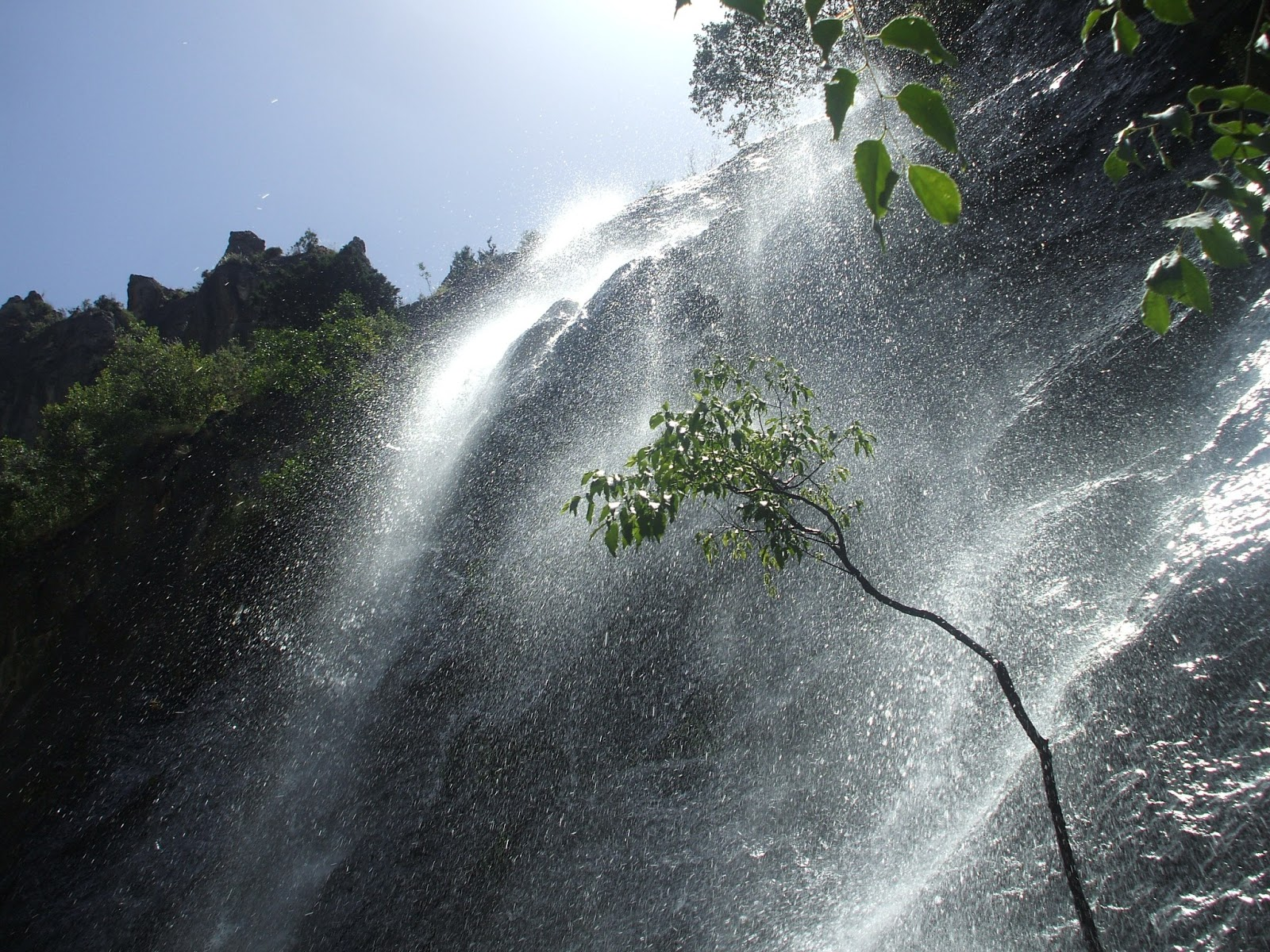 Waterfall in Los Cahorros, Monachil, Granada