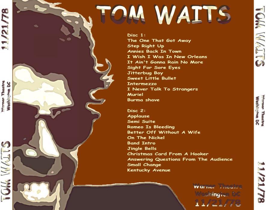 T.U.B.E.: Tom Waits - 1978-11-21 - Washington, DC (SBD/FLAC)