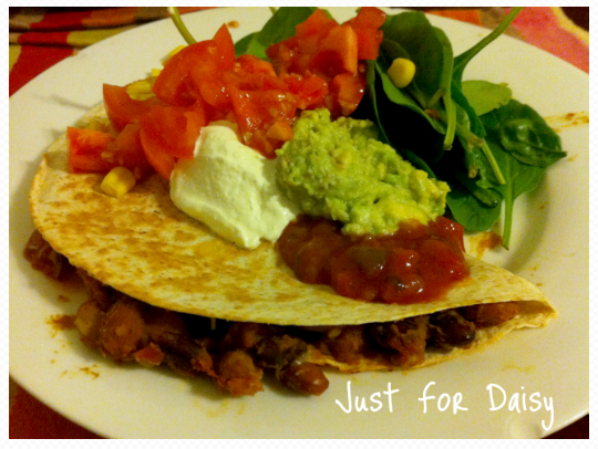 Just For Daisy - Vegetarian Quesadillas
