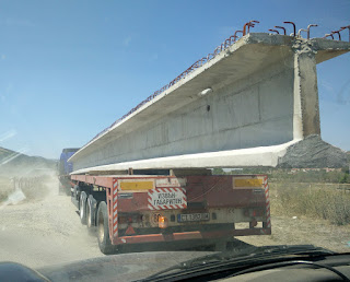 Part of the bridge under transport