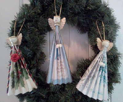 Angel fan ornaments 1