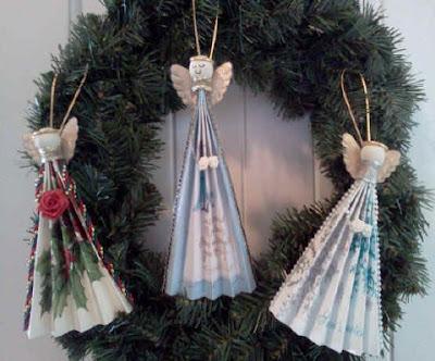 Angel fan ornaments 1
