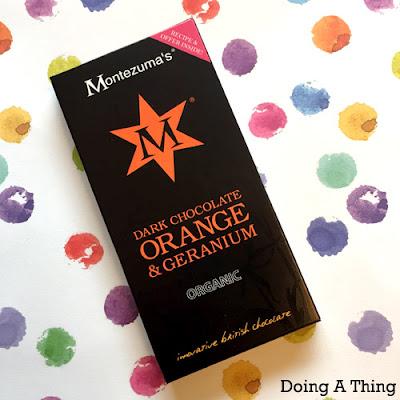 Montezuma Orange and Geranium Organic Chocolate