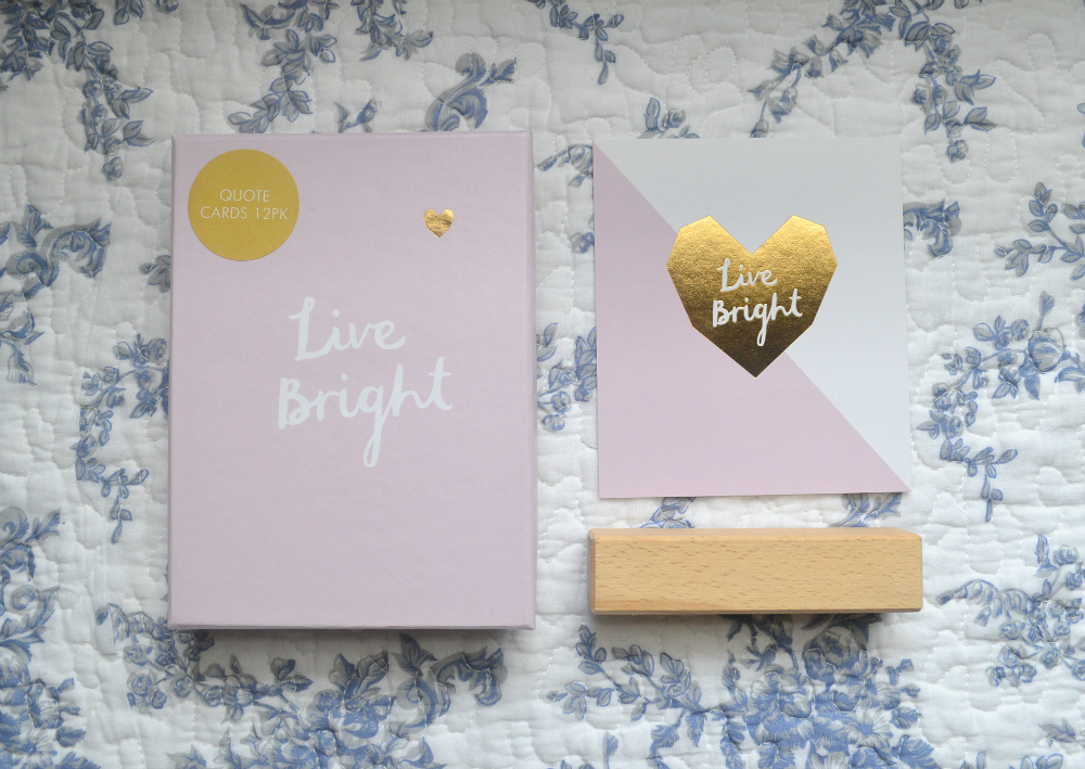 kikki k live bright quote card pack of 12