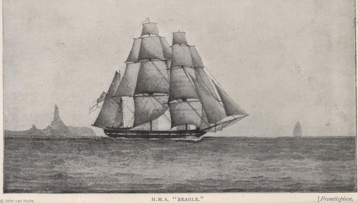El bergantín Beagle, vital para Darwin