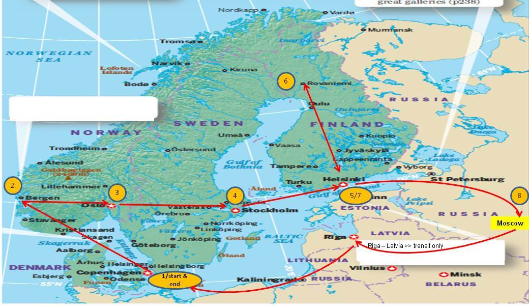 My Life My Journey Brief Itinerary Scandinavia Moscow