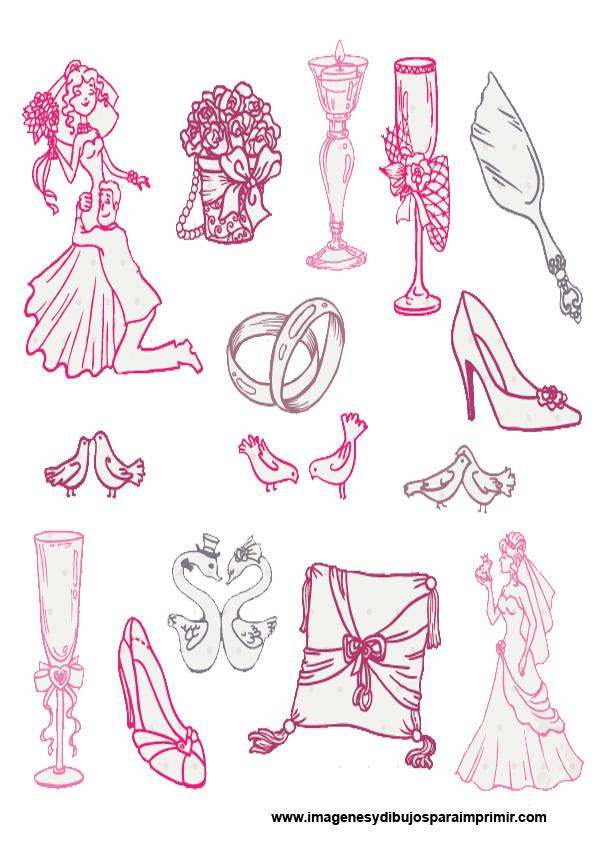 bodas en imagenes y dibujos para imprimir