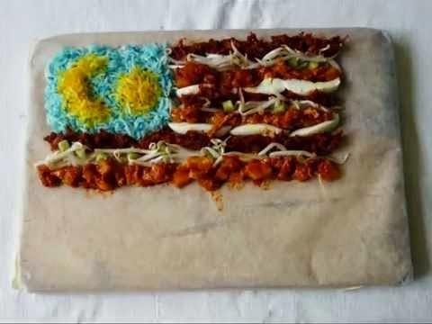 Bendera Kebangsaan Pelbagai Negara Yang Di Perbuat Daripada Makanan