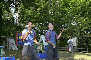 jugglers juggling intentions balls