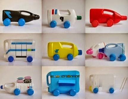 Various Childrens Toys Bottles