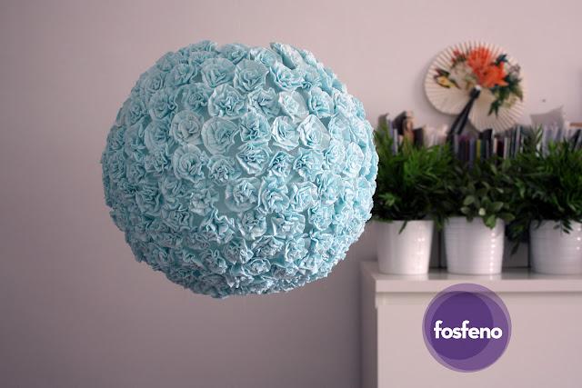 fosfeno candeeiro flores azuis