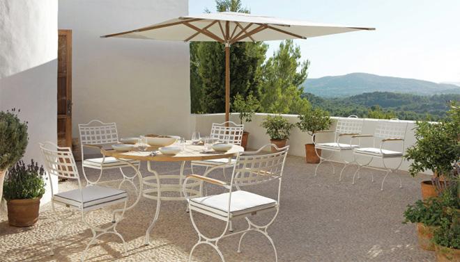 8 modelos de mobiliario de jardín - silla versalles en blanco de Manutty