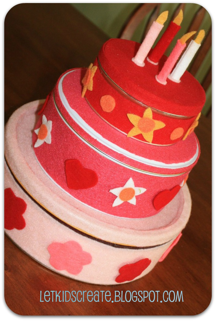 Let Kids Create Diy Felt Birthday Cake