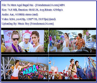 Tu Mere Agal Bagal Hai (Phata Poster Nikhla Hero 2013) 720p Hd Video