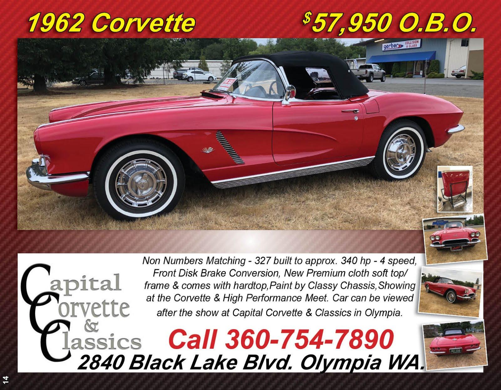 1962 Corvette For Sale @ Capital Corvette & Classics