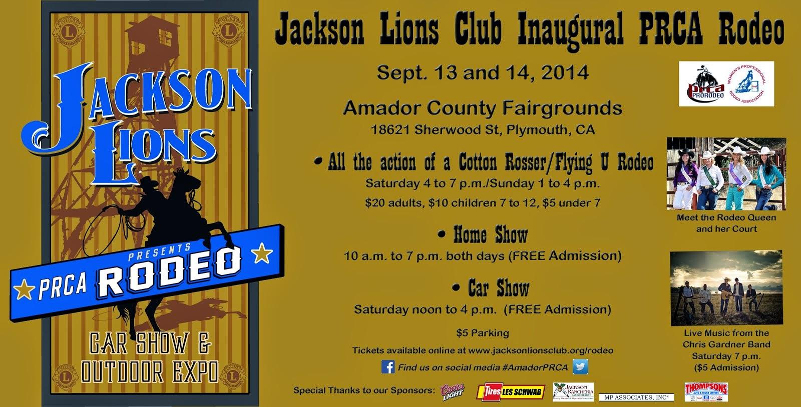 Jackson Lions Club PRCA Rodeo!
