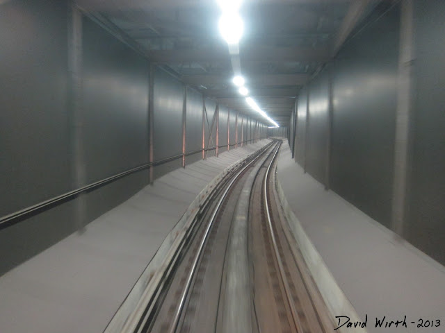 train tunnel, detroit people mover