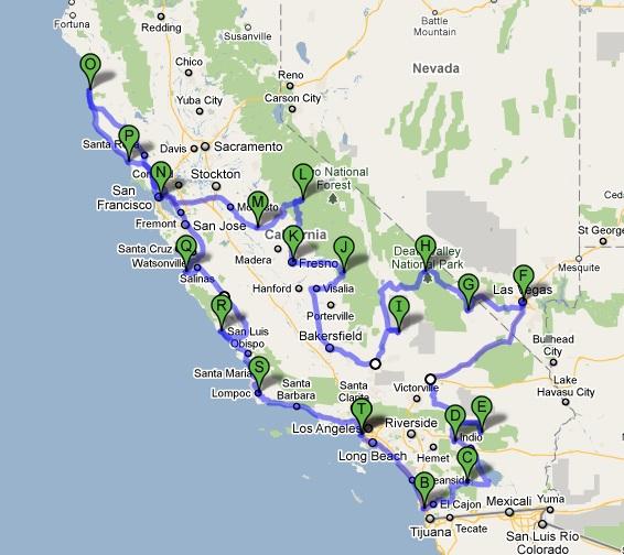 Profession Globe Trotter Carnets De Voyages La Californie