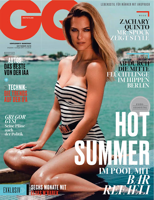 Actress, Supermodel @ Bar Refaeli - GQ Germany, October 2015