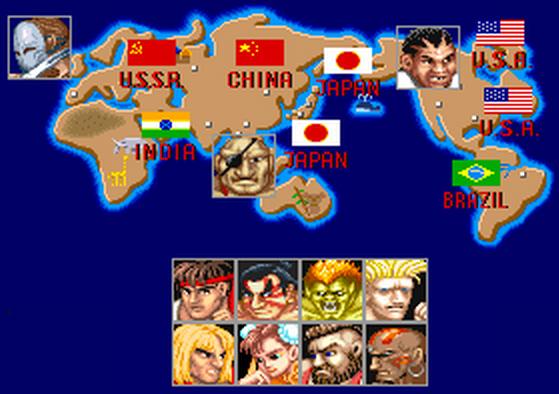 Imagen de los diferentes personajes del juego