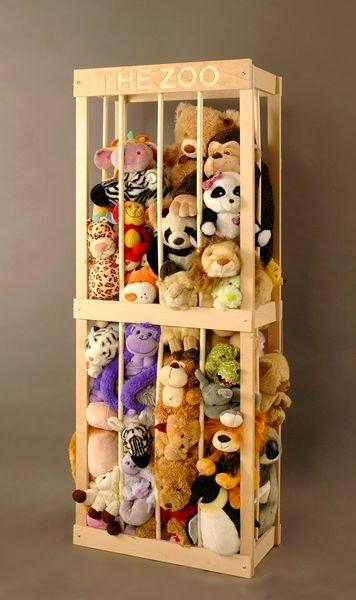 jaula para peluches como almacenaje