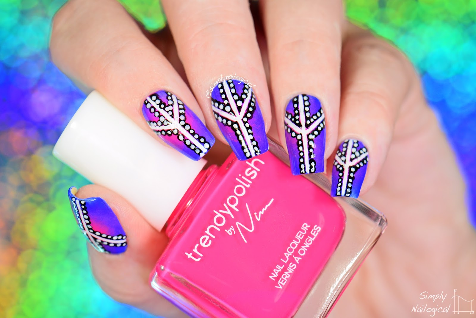 Simply Nailogical: Peace sign dotticure with Trendy Polish by Nim ...