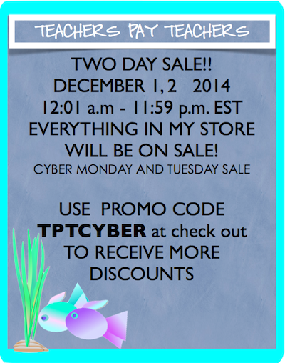 photo of A December Sale 2014, http://www.teacherspayteachers.com/Store/Ruth-S, teaching resources