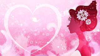 Beautiful lady on Pink color Love heats Picture 2013