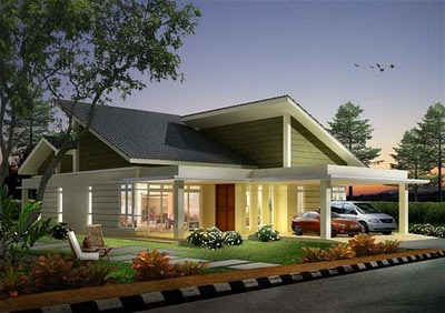 New home designs latest malaysian modern home designs for Single storey bungalow design