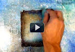 learn how to use sponge in abstract paintings