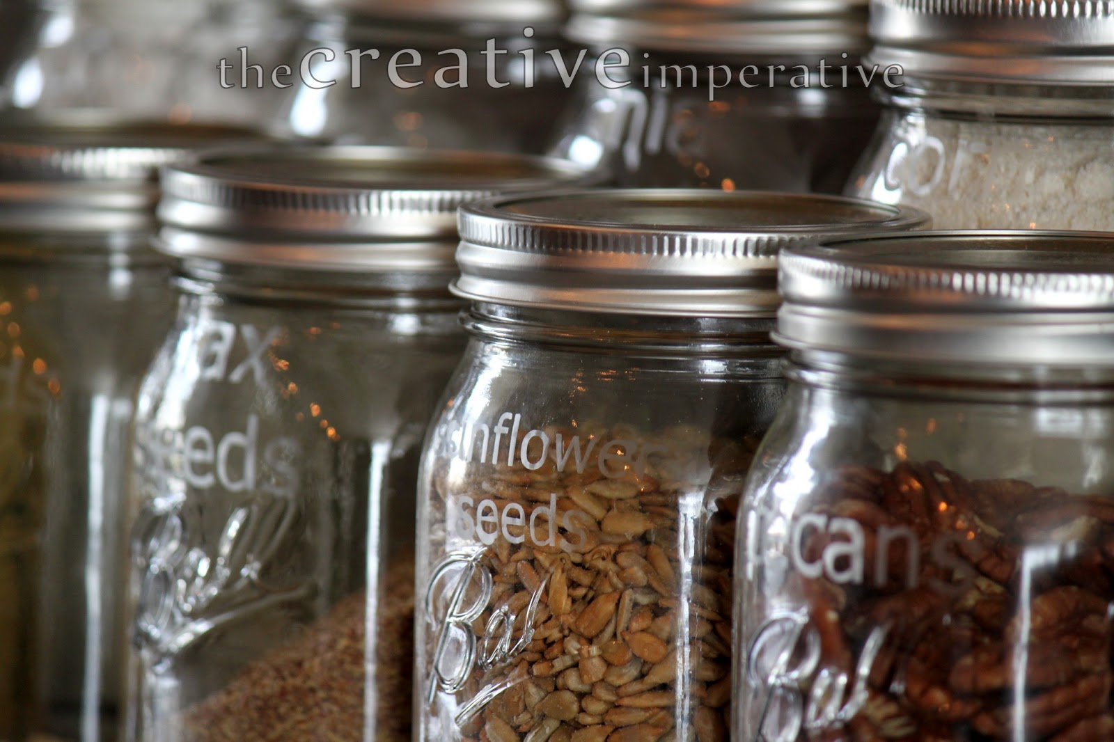 Mason Jar Storage For The Kitchen