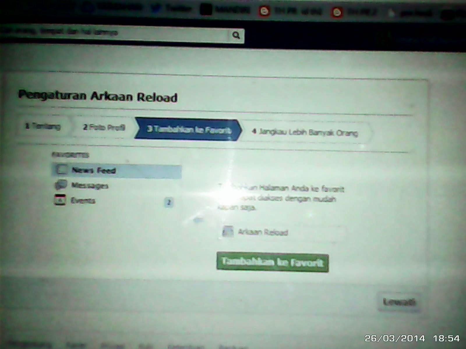 cara membuat halaman facebook