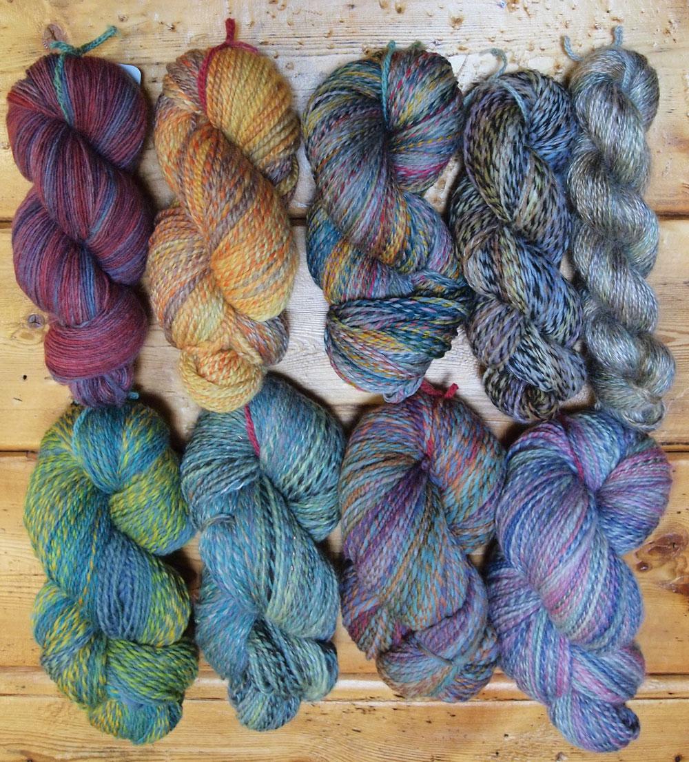 Handspun Yarn : Fancy Tiger Crafts: An Abundance of Locally Handspun Yarns!