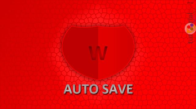 Cara mudah mengatur auto save di word