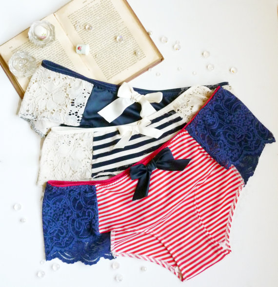 ohhh lulu stripes, lace, and bow underwear