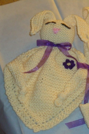 FREE KNITTING PATTERN BUNNY BLANKET BUDDY - VERY SIMPLE FREE KNITTING PATTERNS