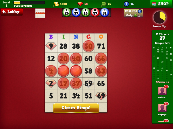 Bingo Vegas Free App Game By TiniDream Studios